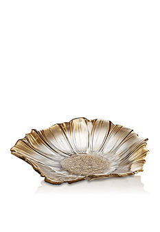 Crystal Clear Venezia Gold Flower Tray