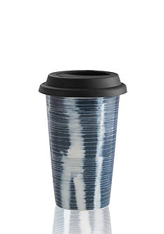 Vera Wang Vera Print Stripe 12-oz. Travel Mug