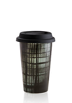 Vera Wang Vera Print Plaid 12-oz. Travel Mug