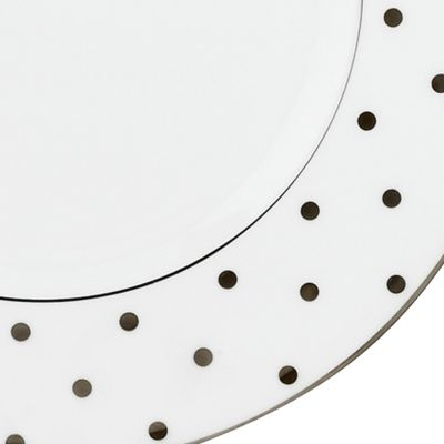 Designer Tabletop: Kate Spade New York: White kate spade new york LARB RD BLK 4TIDBITS