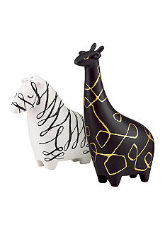 Kate Spade Woodland Park Zebra and Giraffee Salt & Pepper Set