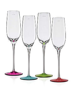 Kate Spade Say The Word Set of 4 Colored Flutes