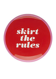 kate spade new york Say The Word Round Dish 'Skirt the Rules'