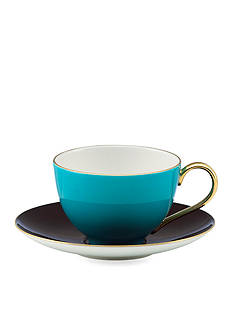 kate spade new york Greenwich Grove Cup and Saucer Set - Turquoise & Yellow - Online Only