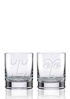 kate spade new york Two of a Kind Bar Belles Set of 2 Double Old Fashion