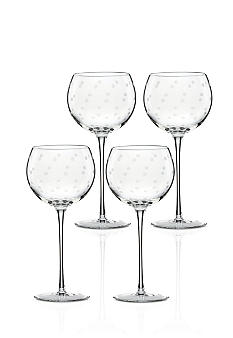 Kate Spade Larabee Dot Set of 4 Balloon Glasses