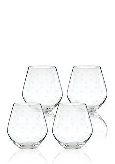 kate spade new york Larabee Dot Set of 4 Stemless Red Wine Glasses