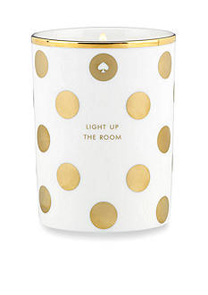 kate spade new york 'Light Up the Room' Gold Dot Candle