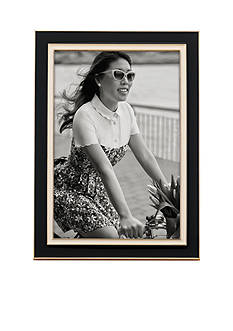 kate spade new york Lacquer 4 x 6 Frame Black/Cream