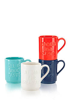 kate spade new york Set of 4 Pretty Pantry Stacking Mugs