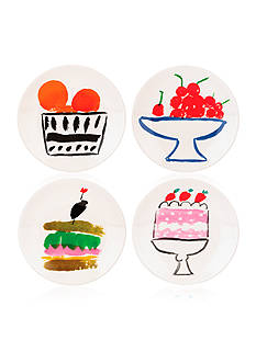 kate spade new york all in good taste Pretty Pantry Set of 4 Appetizer Plates Set