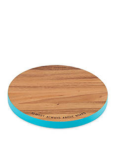 kate spade new york almost always above board Round Wood Cutting Board