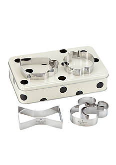 kate spade new york all in good taste Cookie Cutter & Storage Tin Set