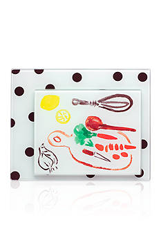 kate spade new york all in good taste Set of 2 Deco Dot Food Prep Boards