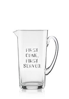 kate spade new york first come, first served Glass Pitcher