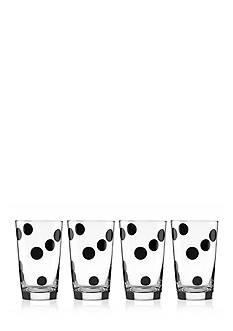kate spade new york all in good taste Set of 4 Deco Dot All-Purpose Beverage Set