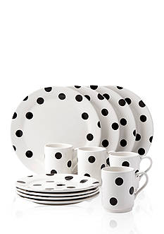 kate spade new york all in good taste Deco Dot 12-Piece Dinnerware Set