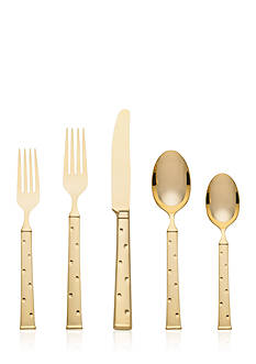 kate spade new york Larabee Dot Gold 5-Piece Flatware Place Setting