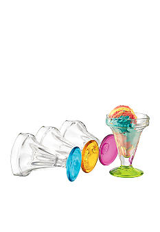 Libbey Set of 4 Color Sundaes
