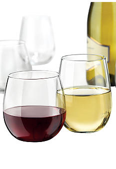 Libbey Set of 12 Stemless Wine Glasses