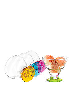 Libbey Set of 4 Color Desserts