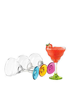 Libbey Set of 4 Color Margarita Glasses