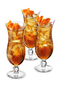 Libbey Cool Cocktails Island Hurricane Set of 6 Glasses