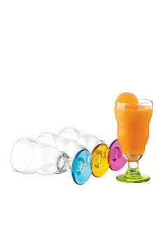 Libbey Set of 4 Color Smoothie Glasses