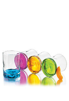 Libbey 4 Piece Set Impressions Colors Double Old Fashioned - Online Only