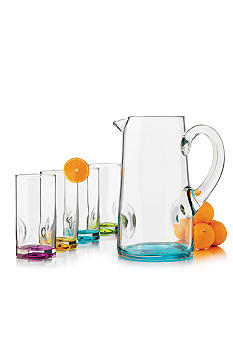 Libbey Impressions Color 5 pc Glassware Set