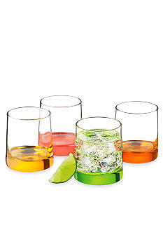 Libbey Cabos Citrus Double Old Fashioned Set of 4 - Online Only