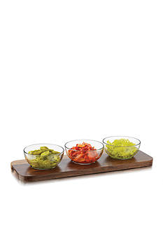 Libbey 4-Piece Round Condiment Set