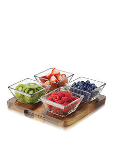 Libbey 5-Piece Square Relish Set