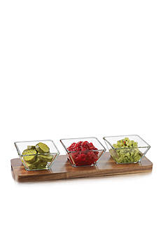 Libbey Square Condiment 4-Piece Set