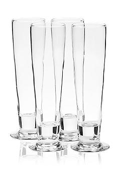 Libbey Stockholm Set of 4 Pilsner Glasses