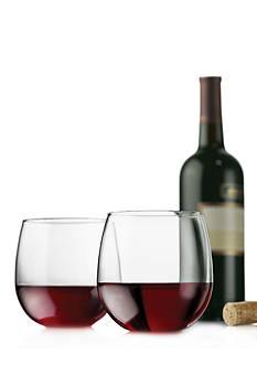 Libbey Vina Set of 4 Stemless Red Wine Glasses