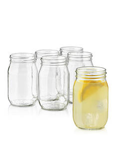 Libbey Drinking Jar 6-Piece Glassware Set