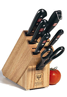 Wusthof gourmet 7 piece knife block set belk for Wusthof kitchen essentials set 7 piece