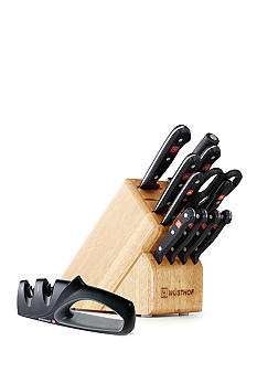 Wusthof Gourmet 12-piece Knife Block Set with Bonus Knife Sharpener