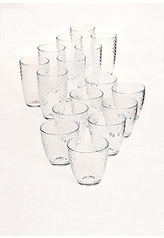 Home Accents Metro Honeycomb 16-piece Drinkware Set