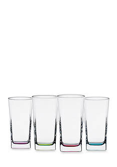 Home Essentials & Beyond Square Glass with Colored Bottoms
