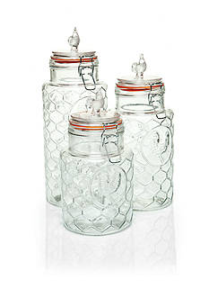 Home Essentials Country Chic Set of 3 Canisters