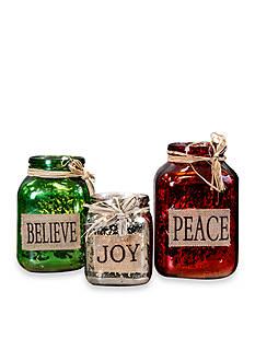 Home Essentials & Beyond Peace, Believe, Joy Mason Votives