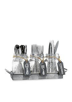 Home Essentials Mason Jar Flatware Caddy