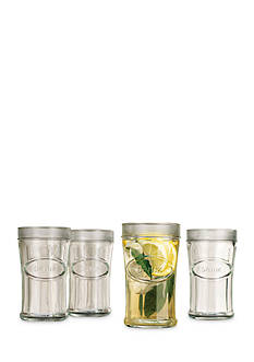 Home Essential & Beyond Heritage Set of 4 Embossed Drink Tumblers