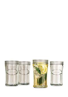 Home Essential & Beyond Heritage Set of 4 Embossed Drink Tumblers