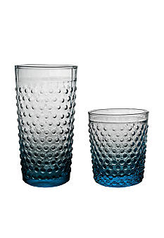 Home Essentials Blue Hobnail Glassware - Online Only