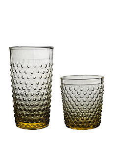 Home Essentials Yellow Hobnail Glassware - Online Only