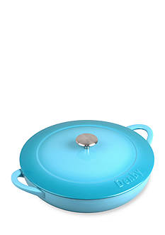 Denby Cook & Dine 4-qt. Cast Iron Shallow Covered Casserole