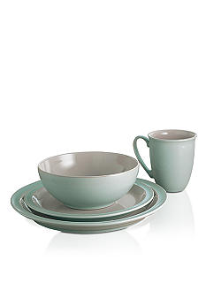 Denby Duet Taupe & Blue 4pc Place Setting